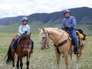 I bambini si divertono questo Wyoming a cavallo vacanze troppo