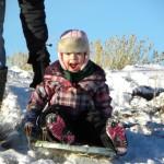Vee Bar sledding