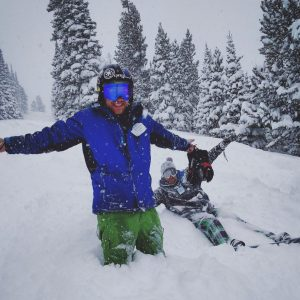 Deep powder at snowy range ski area