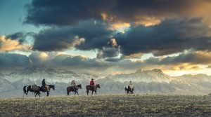 Stoecklein Image--Riding Across the Prairie