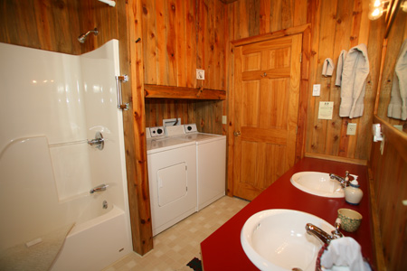 Vee Bar Guest Ranch Bathroom