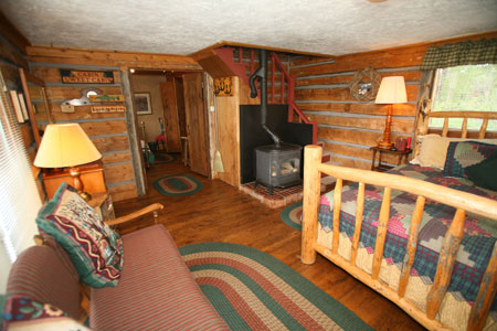 Cabin 3 Master/Living Room