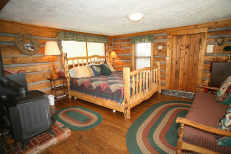 Cabin 3 Master Bed